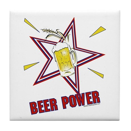 Beer Power Tile Coaster