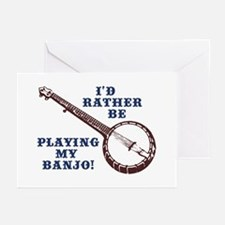 I'd Rather Be Playing My Banjo Greeting Cards (Pac