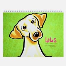 Labs Off-Leash Art™ Vol 1 Wall Calendar