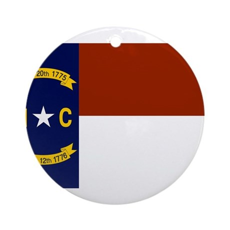 North Carolina Flag Ornament (Round)
