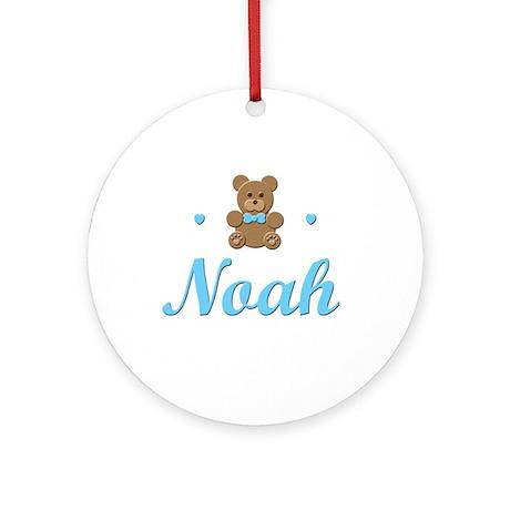 Teddy Bear - Noah Ornament (Round)