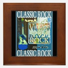 Classic Rock N Roll Framed Tile