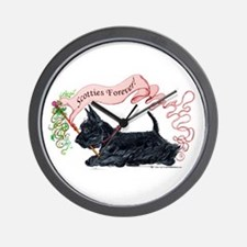Scotties Forever Banner Wall Clock