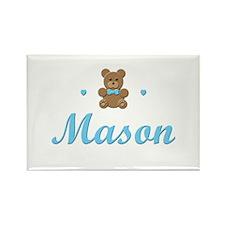 Teddy Bear - Mason Rectangle Magnet
