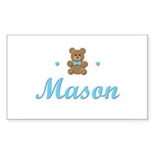 Teddy Bear - Mason Rectangle Decal