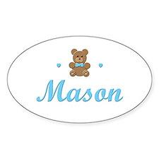 Teddy Bear - Mason Oval Decal