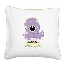 Cute Kraken Square Canvas Pillow