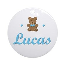 Teddy Bear - Lucas Ornament (Round)