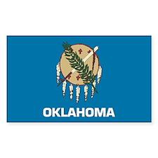 Oklahoma Flag Rectangle Decal