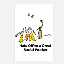 Cute Social worker Postcards (Package of 8)