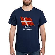 Danish Cartoonist Blue T-Shirt