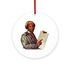 Sequoyah, The Cherokee Scholar Round Ornament