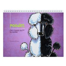 Poodles Off-Leash Art™ Vol 1 Wall Calendar