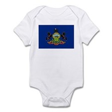 Pennsylvania Flag Infant Bodysuit