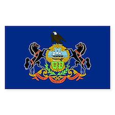 Pennsylvania Flag Rectangle Decal