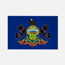 Pennsylvania Flag Rectangle Magnet