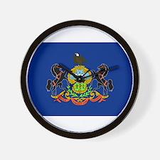 Pennsylvania Flag Wall Clock