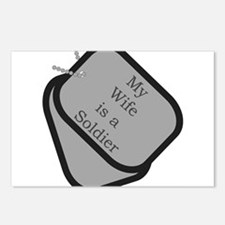 My Wife is a Soldier dog tag Postcards (Package o