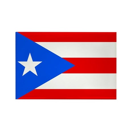 Puerto Rico Flag Rectangle Magnet