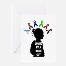 Loving Lyla Inside Out 1 Greeting Card