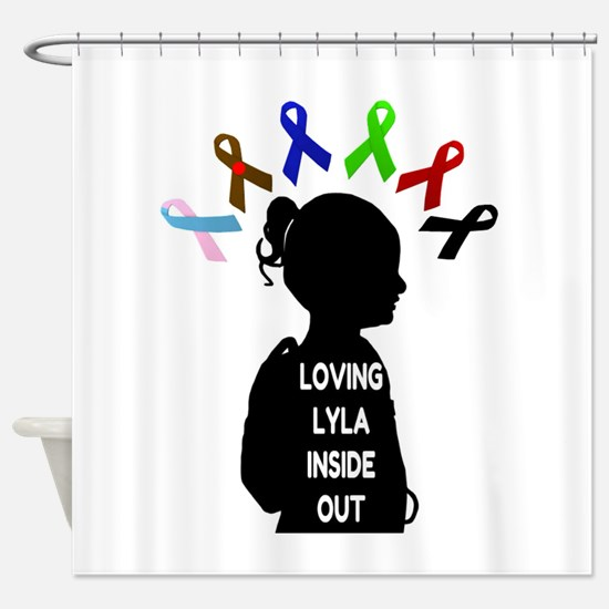 Loving Lyla Inside Out 1 Shower Curtain