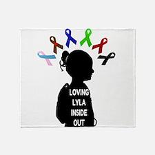 Loving Lyla Inside Out 1 Throw Blanket