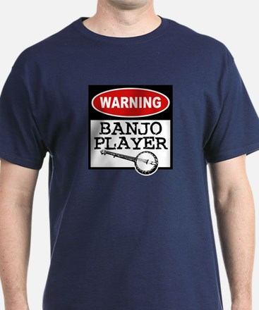 Warning Banjo Player T-Shirt