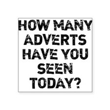 How Many Adverts? Sticker