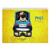 Black pug Calendars