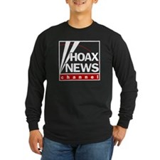 Hoax News Long Sleeve Black T-Shirt