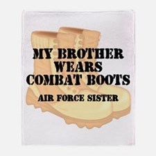 AF Sister Bro wears DCB Throw Blanket