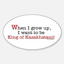 ... King of Kazakhstani Oval Decal