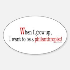 ... philanthropist Oval Decal