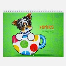 Yorkies Off-Leash Art™ Vol 1 Wall Calendar