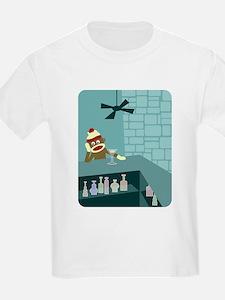 Sock Monkey Martini Bar Kids T-Shirt