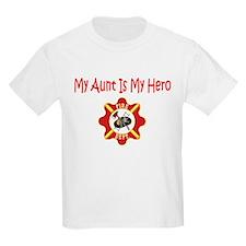 Firefighter Hero-Aunt Kids T-Shirt