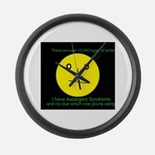 asperger smile Large Wall Clock