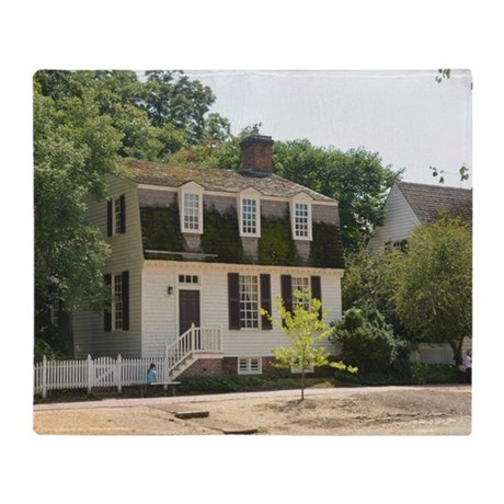 Colonial Williamsburg Historic Home Throw Blanket