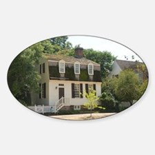 Colonial Williamsburg Historic Home Sticker (Oval)