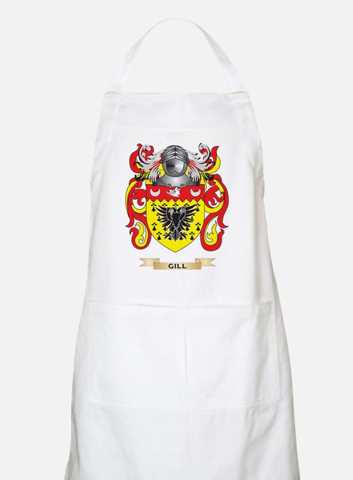 Gill-England Coat of Arms (Family Crest) Apron