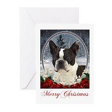 Boston Terrier Christmas Cards (Pk of 20)