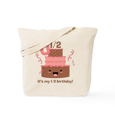 Kawaii Cake 1/2 Birthday Tote Bag