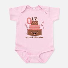Kawaii Cake 1/2 Birthday Infant Bodysuit