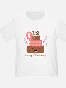 Kawaii Cake 1/2 Birthday T