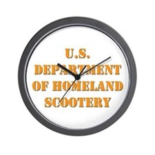 Homeland Scootery Wall Clock