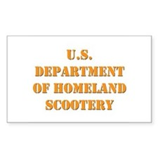 Homeland Scootery Rectangle Decal