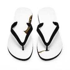 Sax facing right graphic Flip Flops