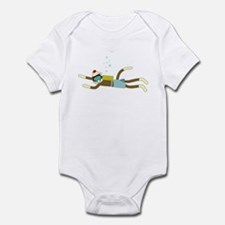 Sock Monkey Scuba Diver Infant Bodysuit