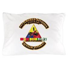 1st Armor Div w SVC Ribbons Pillow Case