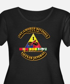 1st Armor Div w SVC Ribbons T